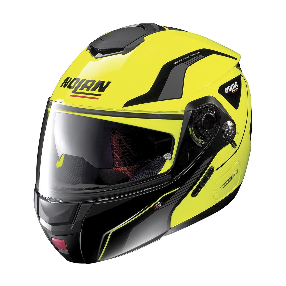 Moto helma Nolan N90-2 Straton N-Com Led Yellow 18