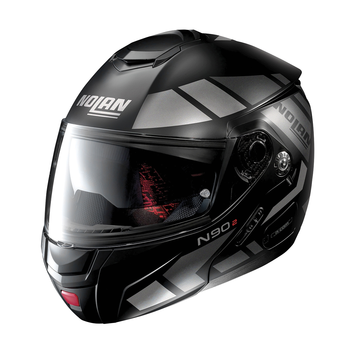 Moto helma Nolan N90-2 Euclid N-Com Flat Black 26