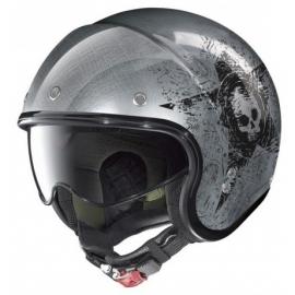 Moto helma Nolan N21 Star Skull Scratched Chrome 72