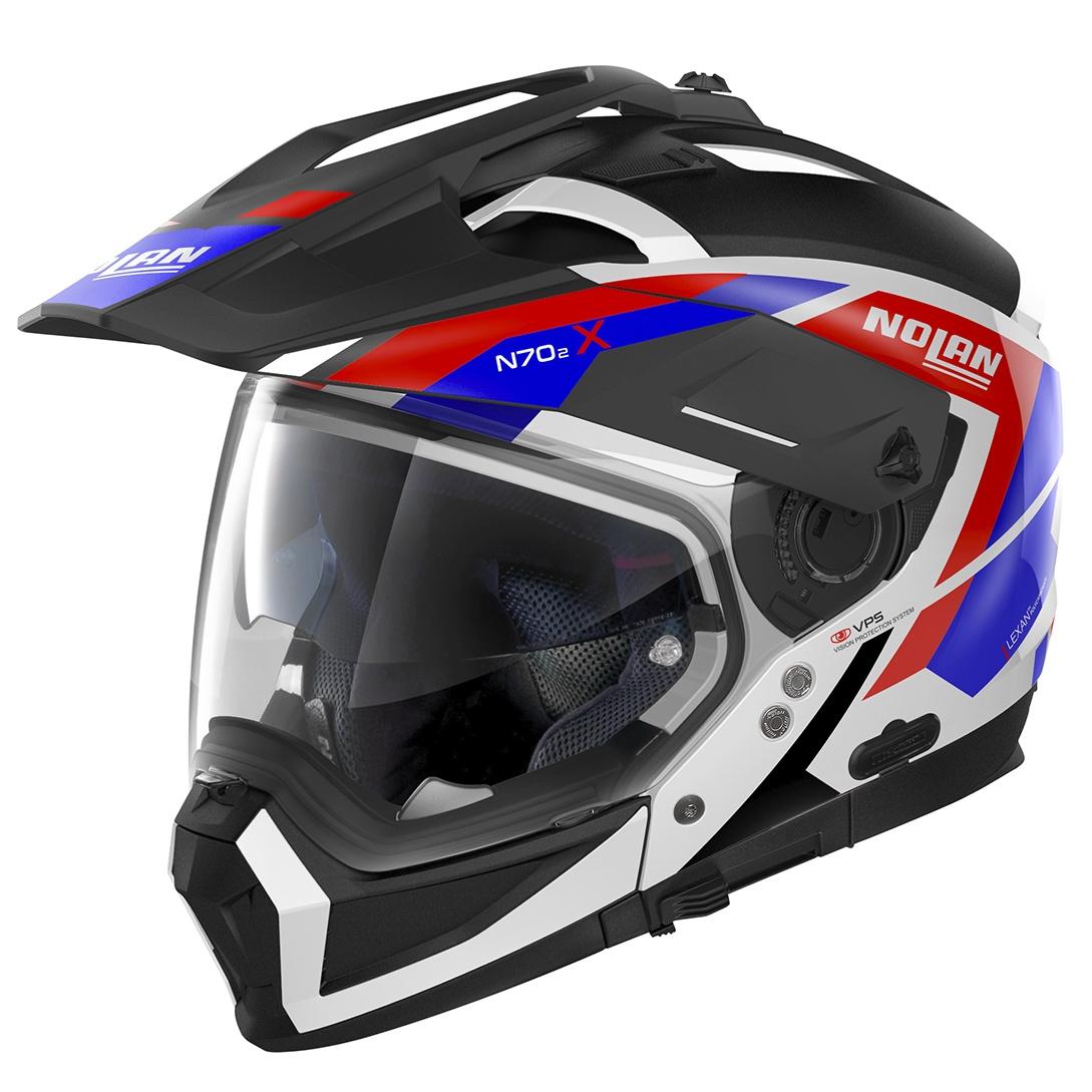 Moto helma Nolan N70-2 X Grandes Alpes N-Com Metal White 26