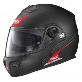 Moto helma Grex G9.1 Evolve Vivid N-Com Flat Black 36