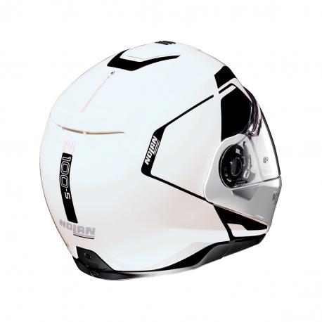 Moto helma Nolan N100-5 Consistency N-Com Metal White 19 - L