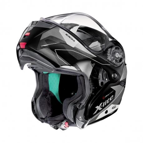Moto helma X-Lite X-1004 Ultra Carbon Dedalon N-Com Glossy Black 16