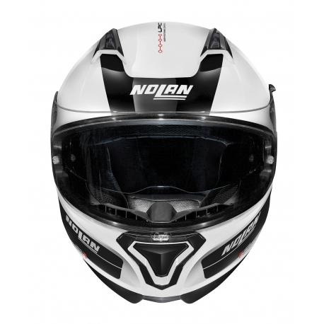 Moto helma Nolan N87 Plus Distinctive N-Com Metal White 22