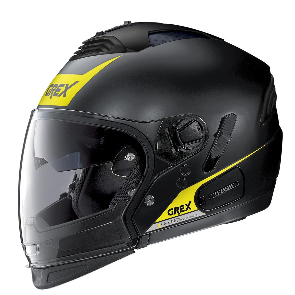 Moto helma Grex G4.2 PRO Vivid N-Com Flat Black 33