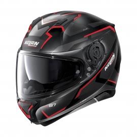 Moto helma Nolan N87 Plus Overland N-Com Flat Black 31