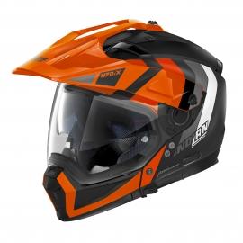Moto helma Nolan N70-2 X Decurio N-Com Flat Black 31