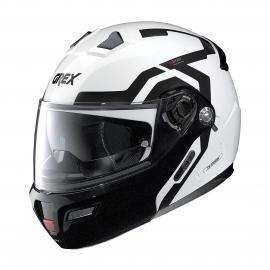 Moto helma Grex G9.1 Evolve Crossroad N-Com Metal White 41