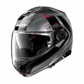 Moto helma Nolan N100-5 Hilltop N-Com Scratched chrome 53