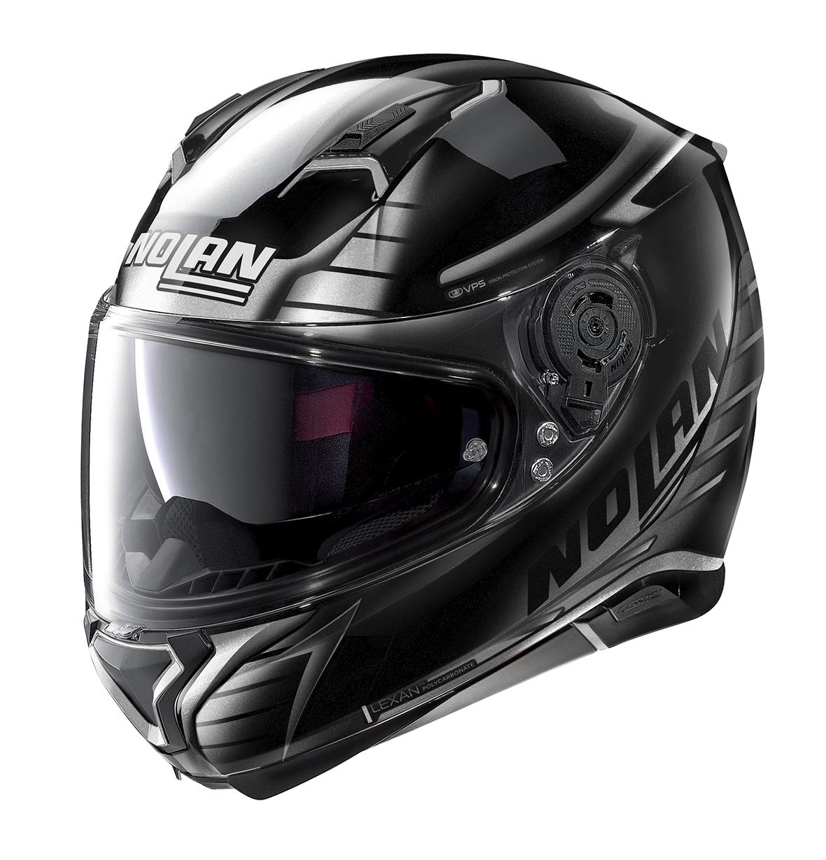 Moto helma Nolan N87 Aulicus N-Com Metal Black 80