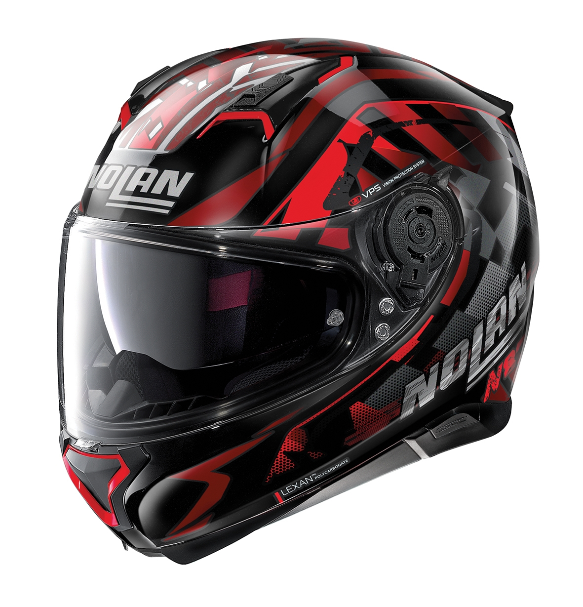 Moto helma Nolan N87 Venator N-Com 89 červená