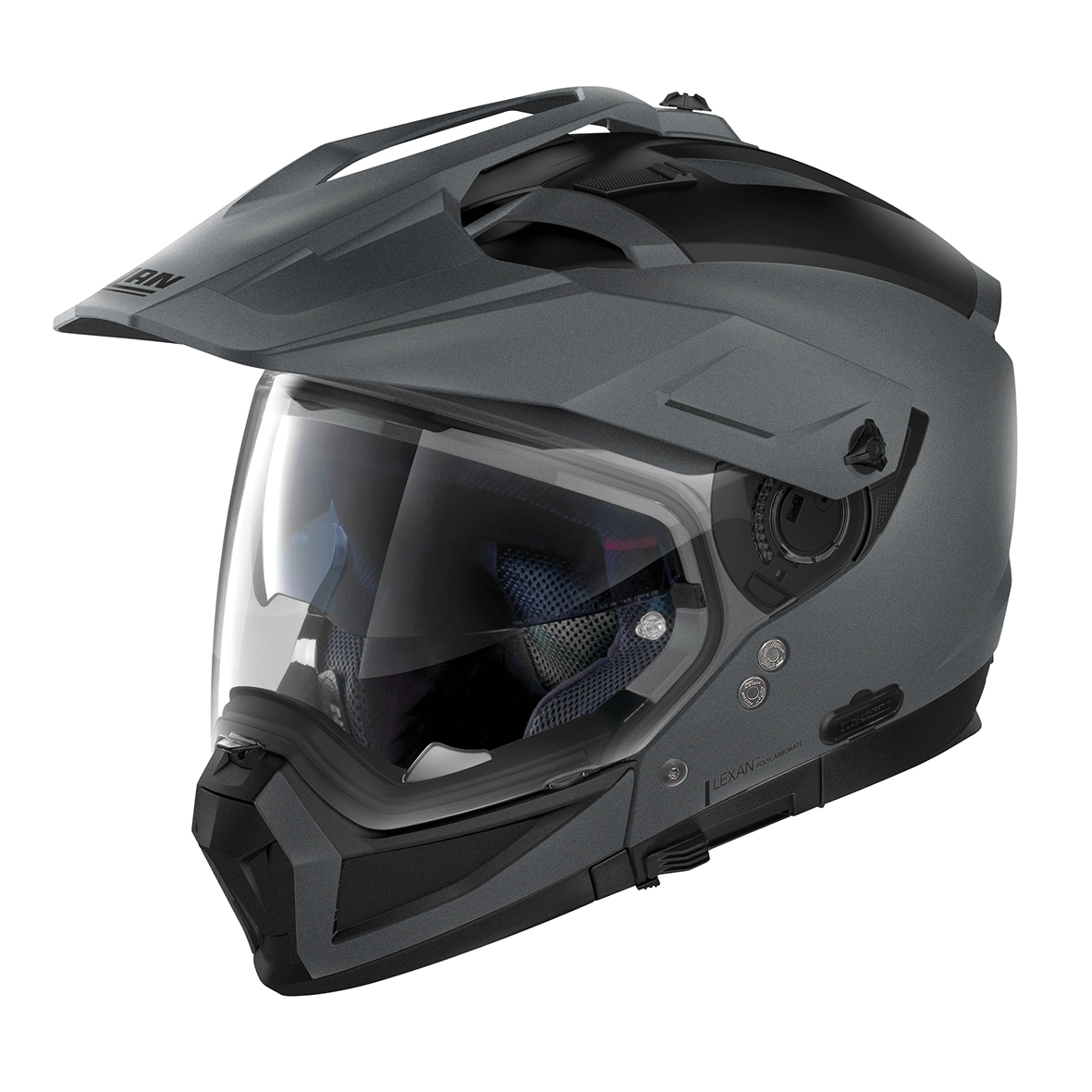 Moto helma Nolan N70-2 X Classic N-Com Flat Vulcan Grey 2