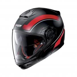 Moto helma Nolan N40-5 GT Resolute N-Com Flat Black 21