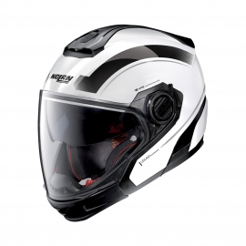 Moto helma Nolan N40-5 GT Resolute N-Com Metal White 24