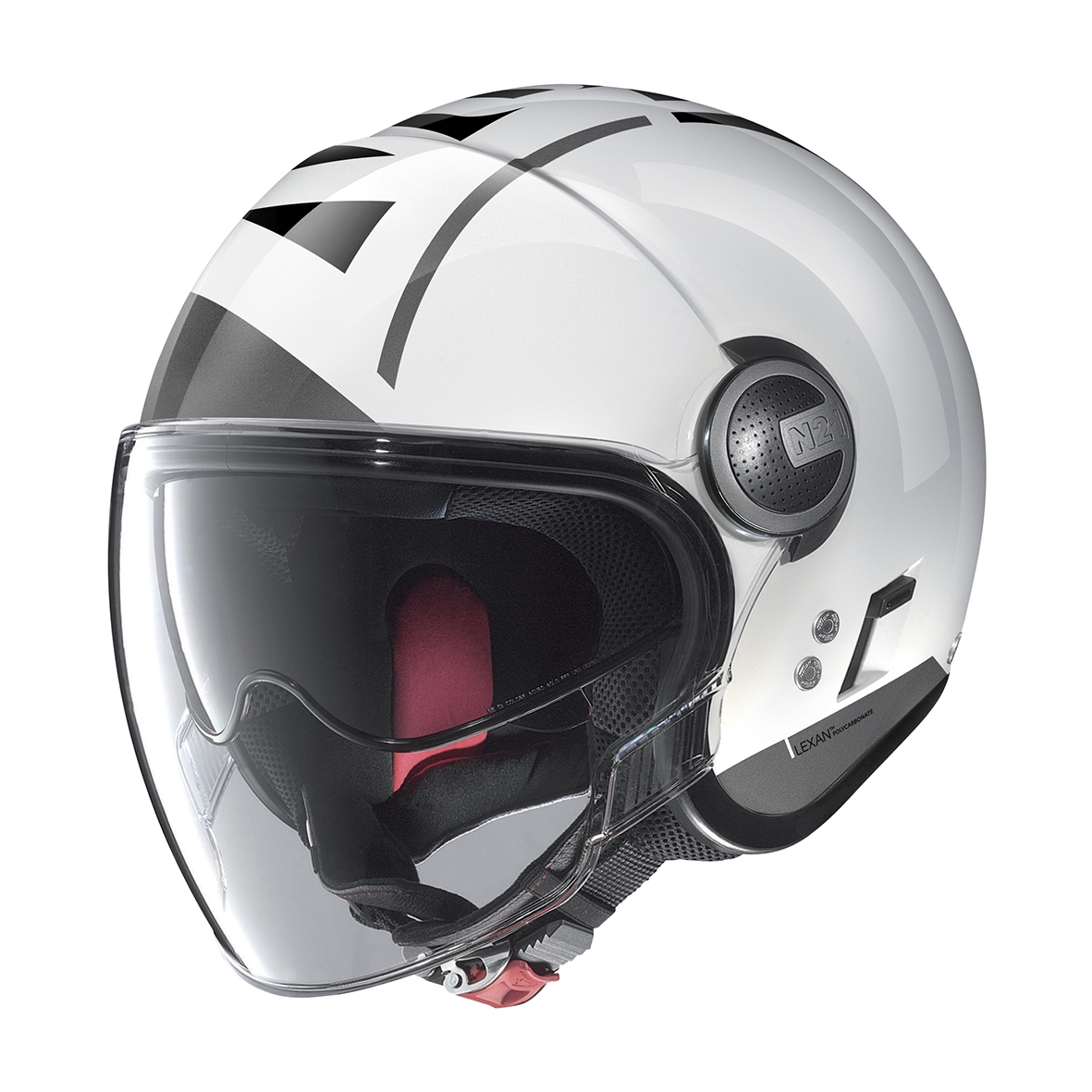 Moto helma Nolan N21 Visor Avant-Garde Metal White 77