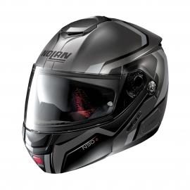 Moto helma Nolan N90-2 Meridianus N-Com Flat Lava Grey 30