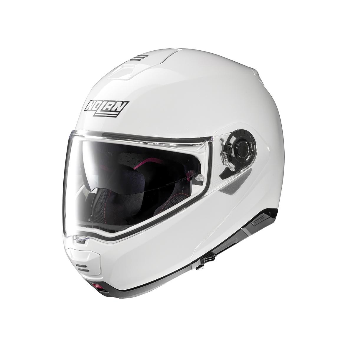 Moto helma Nolan N100-5 Classic N-Com Metal White 5