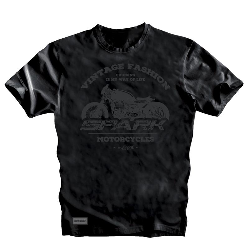 Pánské tričko Spark S 001 krátký rukáv, černé