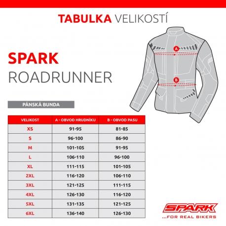 Pánská textilní moto bunda Spark Roadrunner Black - S