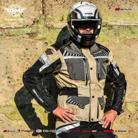 Pánská textilní moto bunda Roadrunner Sand - S