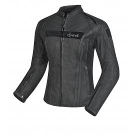 Dámská kožená moto bunda SPARK VIRGINIA, černá
