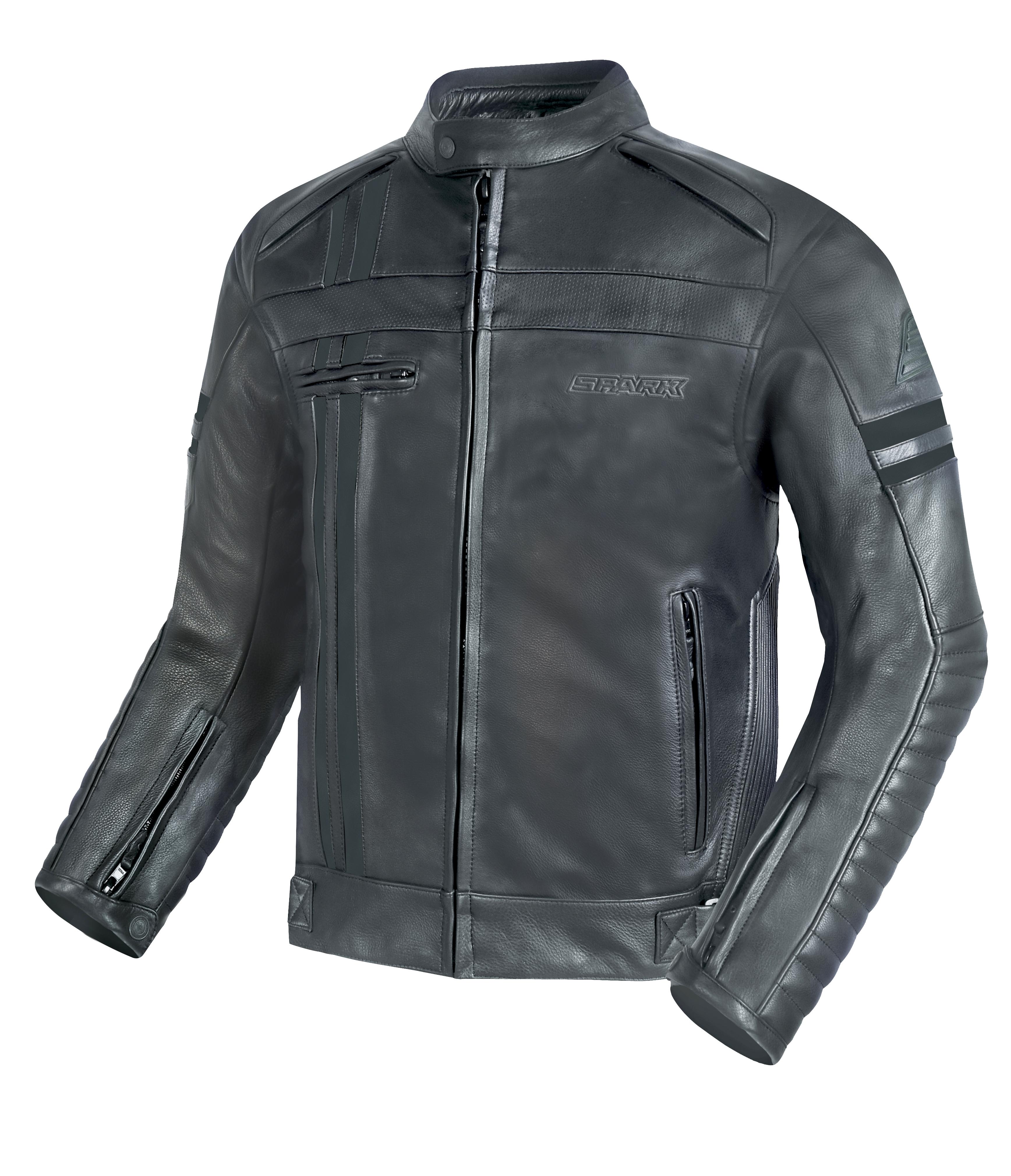 Pánská kožená moto bunda SPARK BRONO EVO II, černá