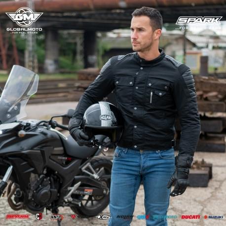 Pánská textilní moto bunda Spark Connel, černá