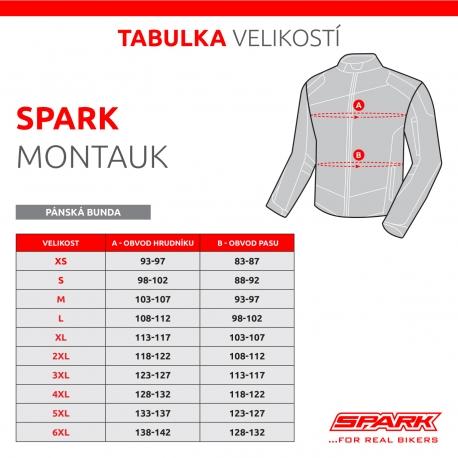Pánská textilní moto bunda Spark Montauk, fluo