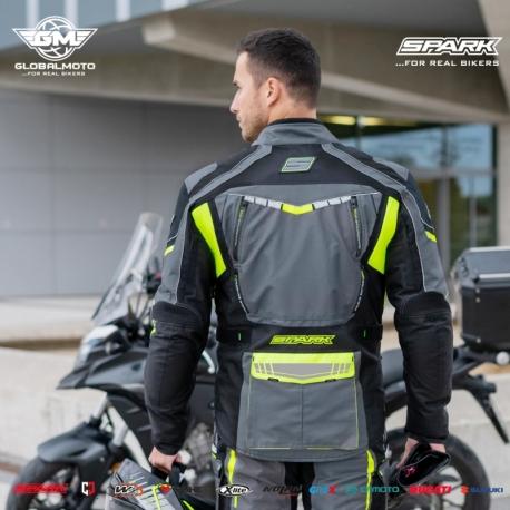Pánská textilní moto bunda Spark Pacer, fluo