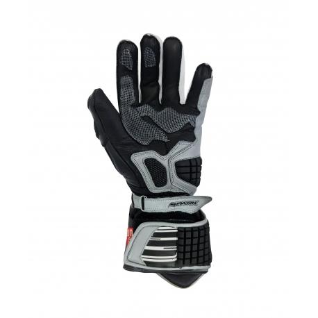 Pánské kožené moto rukavice Spark Apex, šedé