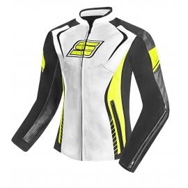 Dámská kožená moto bunda Spark Lina Fluo -  2XS