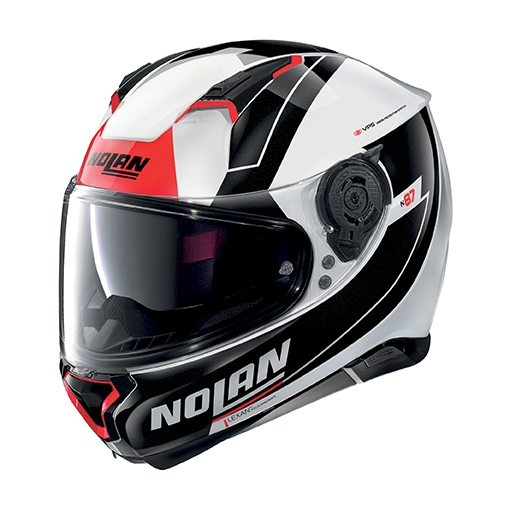Moto helma Nolan N87 Skilled N-Com Metal White 98