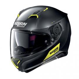 Moto helma Nolan N87 Emblema N-Com Flat Black 72