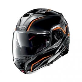 Moto helma Nolan N100-5 Balteus N-Com Flat Black 44