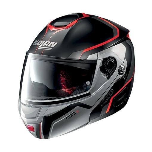 Moto helma Nolan N90-2 Meridianus N-Com FLAT BLACK 29