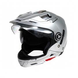 Moto helma Cyber US-101, stříbrná, 5v1
