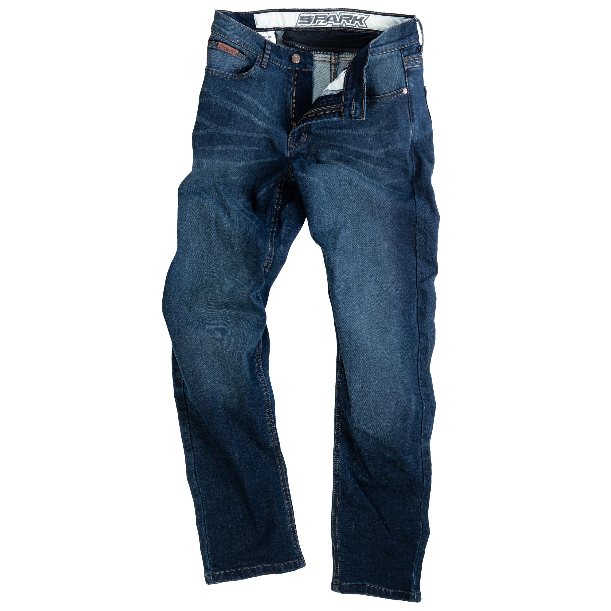 Pánské džínové moto kalhoty SPARK BODDIE, modré