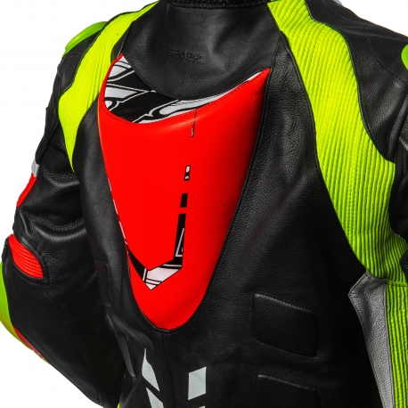 Pánská kožená moto kombinéza dvoudílná Spark Apex, červená