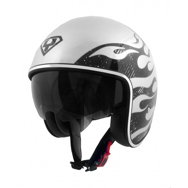 Moto helma Yohe 859-91A, Grey, Silver