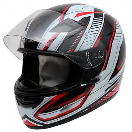 Moto helma Cyber US-39, černo-červená
