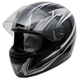 Moto helma Cyber US-39 černo-bílá