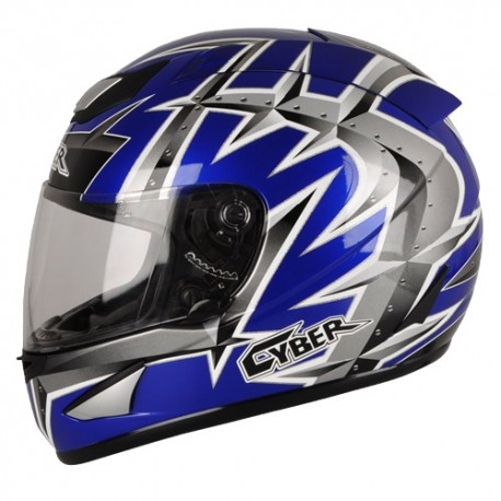 Moto helma Cyber US-95 modrá matná