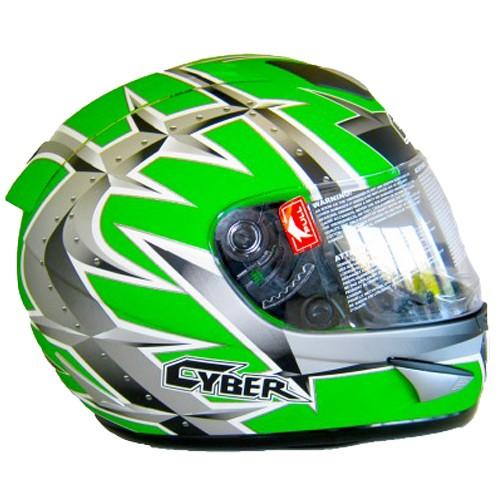 Moto helma Cyber US-95, zelená matná