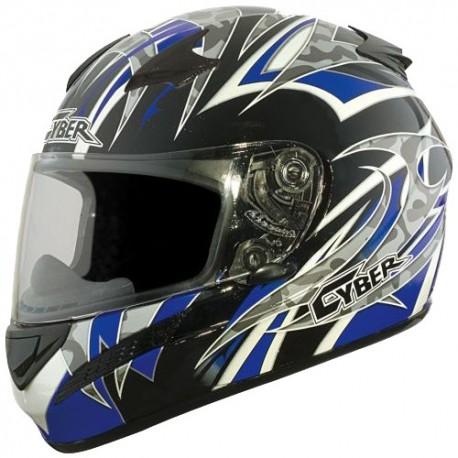 Moto helma Cyber US-98, modrá