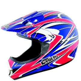 Moto helma Cyber UX-22, červeno-modrá