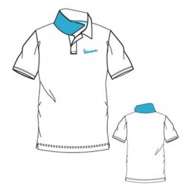 Polo triko VESPA LOGO, pánské, bílé, vel.L