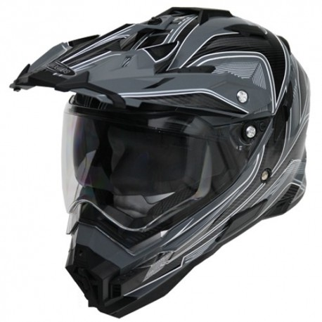 Moto helma Cyber UX-33 šedo-černá