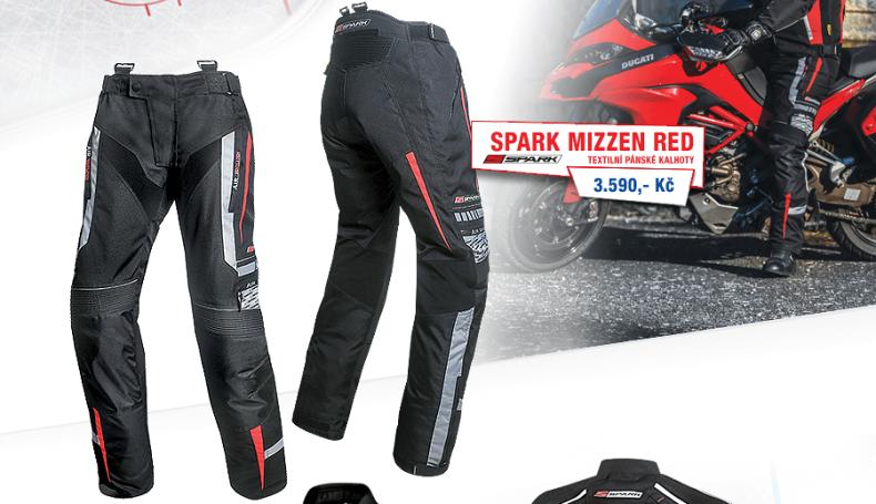 Kalhoty Spark Mizzen, červené