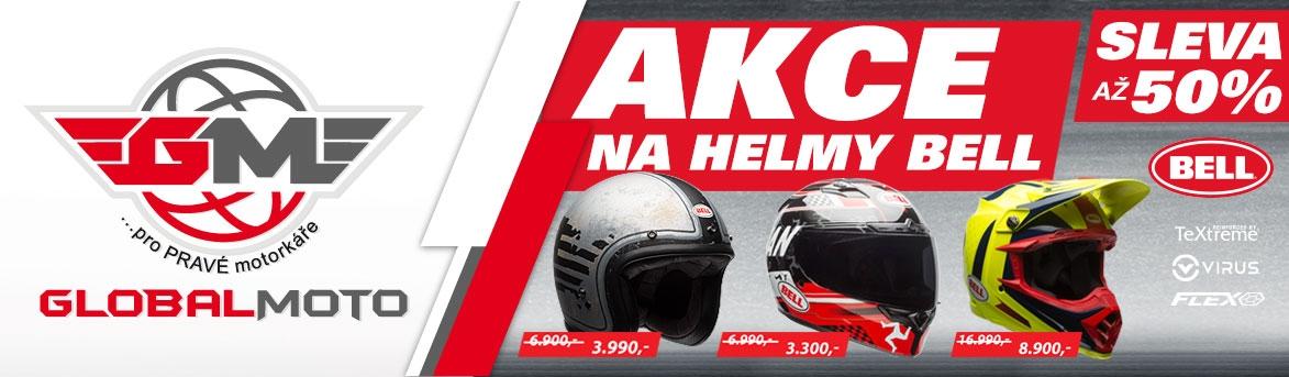 Akce až 50% sleva na helmy Bell