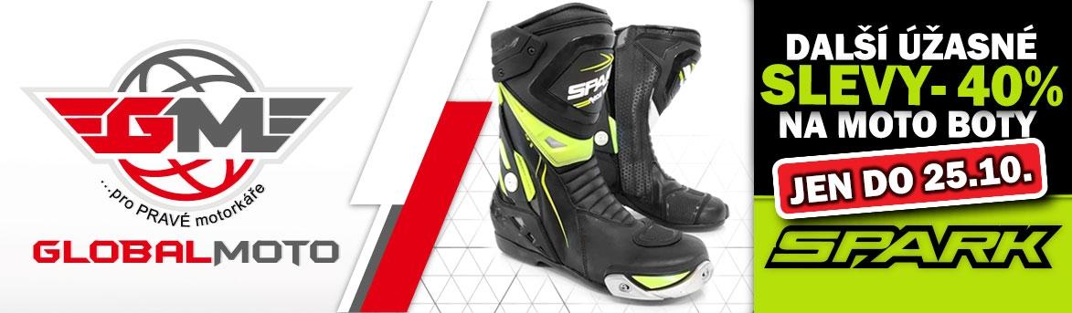 Úžasné slevy na moto boty SPARK až 40%